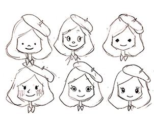 イラストキャラクター作成 ホームページ制作x女性集客のカズミア