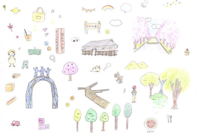 大和市ガイドブック イラスト制作